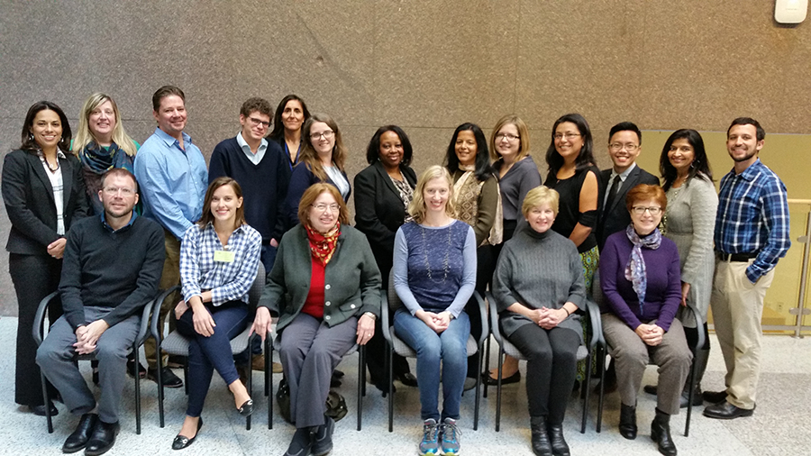 Participants in the Cancer Reporting Fellowship co-sponsored by the National Institutes of Health and the Association of Health Care Journalists in 2016.